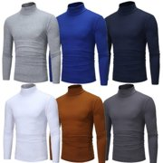 US Men´s Warm Cotton High Neck Pullover Jumper Sweater Tops Turtleneck Shirts