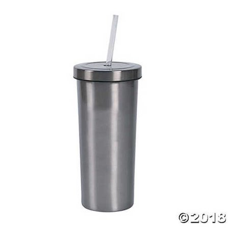 Stainless Steel Tumbler with Straw - Stainless Steel Tumbler With Straw