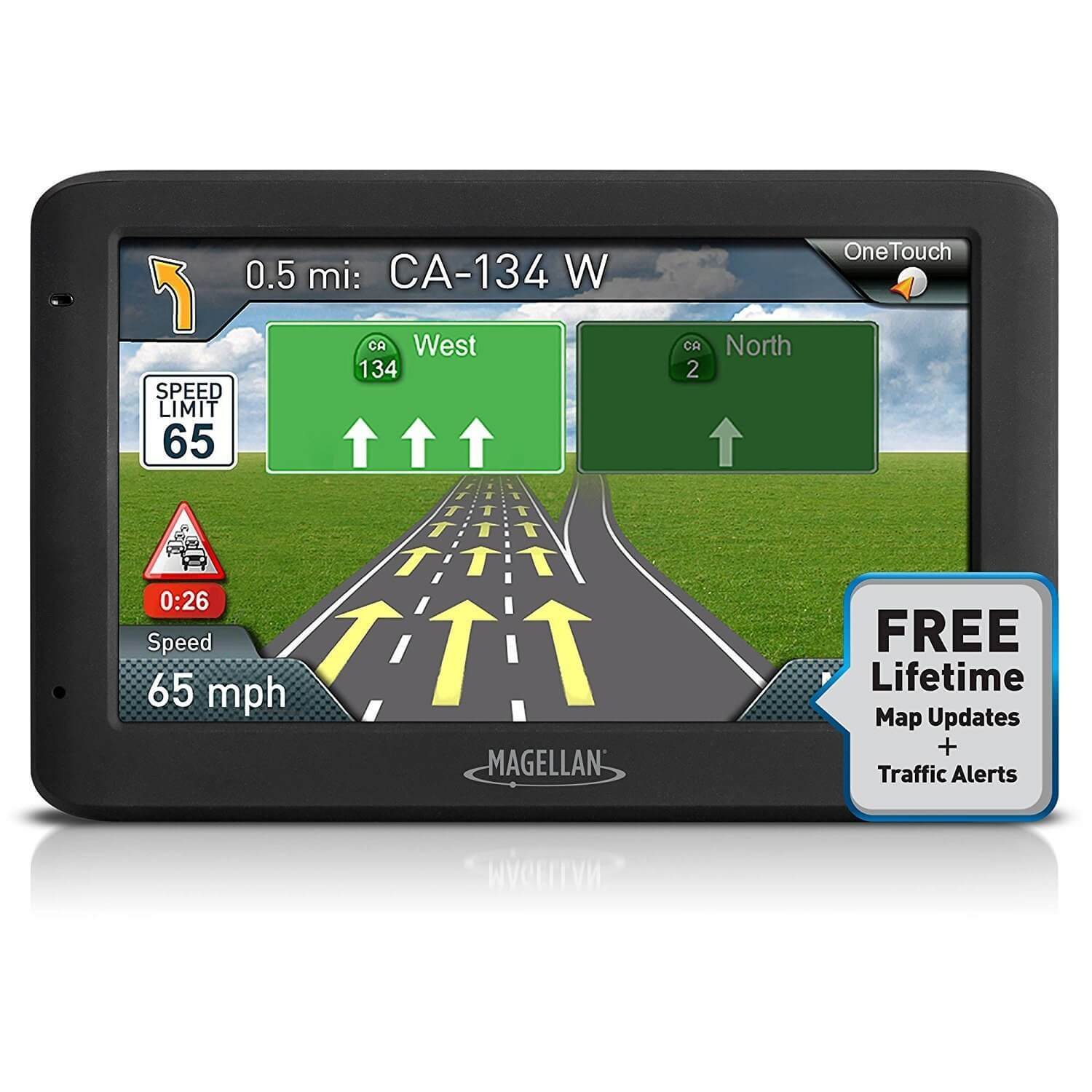 """Refurbished Magellan Roadmate 5635T-LM 5"""" Touch Portable GPS 3D Navigation System, USA Maps"""