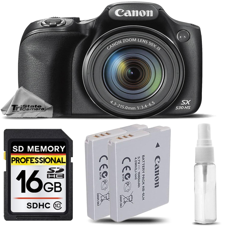 Canon PowerShot SX530 HS Wi-Fi/NFC Digital Camera 16MP 50x Optical Zoom + 16GB