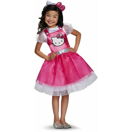 Hello Kitty Pink Deluxe Child Halloween Costume