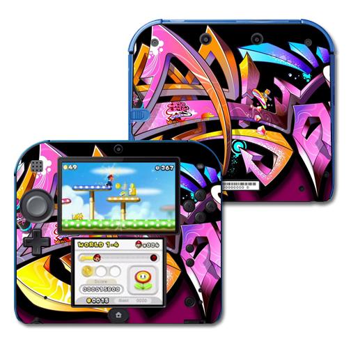 Skin Decal Wrap for Nintendo 2DS sticker Wicked Graffiti