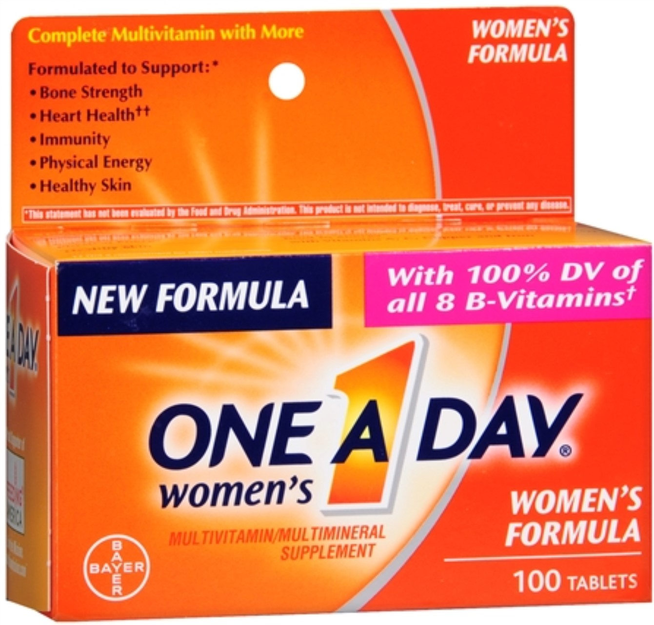 One-A-Day Women's Tablets 100 Tablets (Pack of 3)