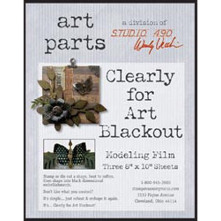 """Blackout 8""""X10"""" Wendy Vecchi Clearly For Art Modeling Film Sheets 3 Pkg by"""