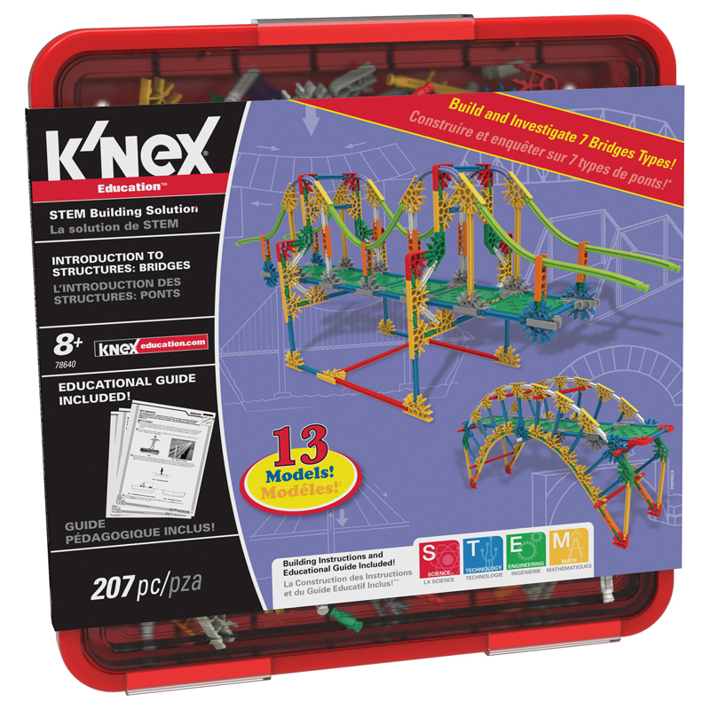 K'NEX Education - Intro to Structures: Bridges Set - 207 Pieces - For Grades 3-5 Construction Education Toy