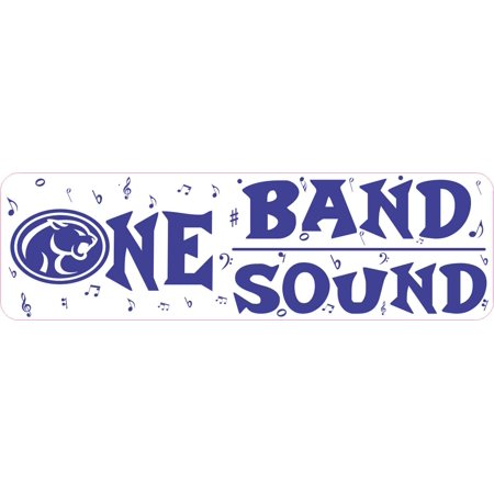 - 10 x 3 Buna Cougar One Band One Sound Bumper Sticker Marching Bands Decal