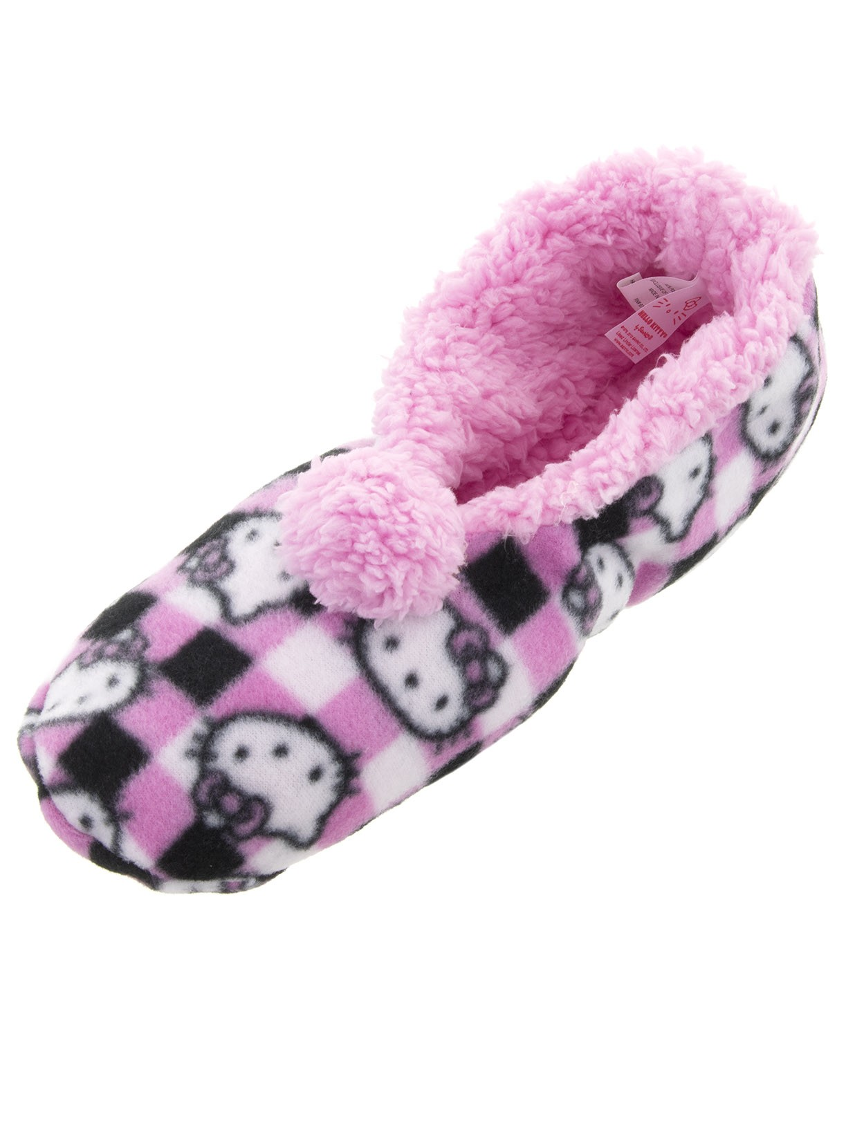 Hello Kitty Women's Pink Plaid Slipper