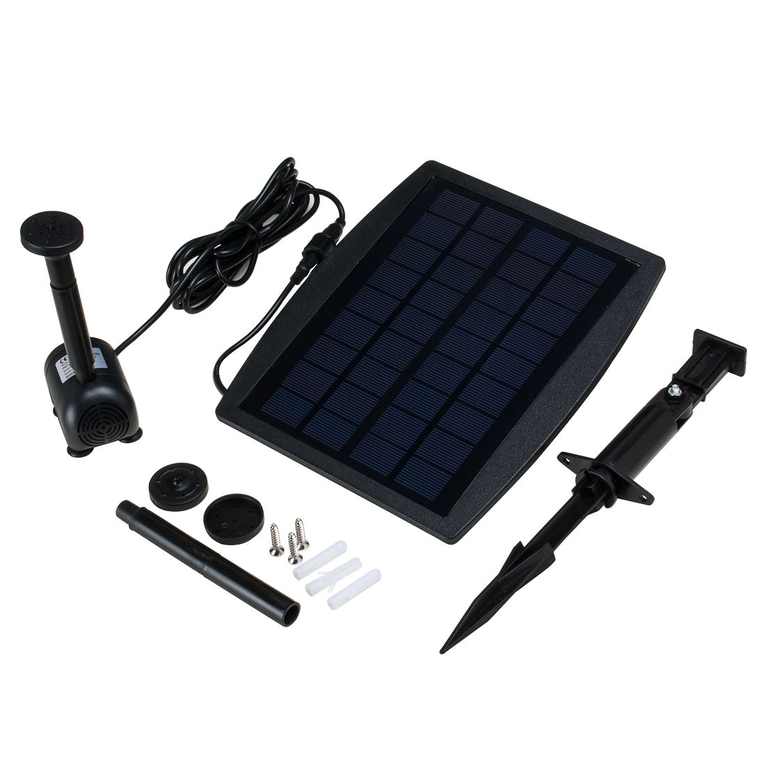 UXcell 2.5W Solar Power Panel Water Pump Aquarium Garden ...