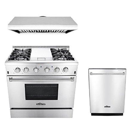 - Thor Kitchen 3-Piece Kitchen Package with HRG3617U 36