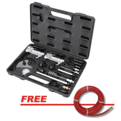 ATD 8721P 21-Piece Air Blow Gun Kit with 3/8 in. x 25 ft. GoodYear Two-Braid Rubber Air Hose