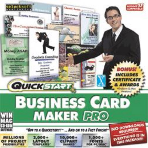 SelectSoft QuickStart: Business Card Maker Pro (Windows) (Digital Code)