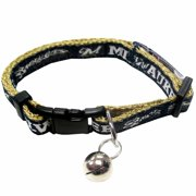 Pets First MLB Los Angeles Angels Adjustable, Breakaway Cat Collar, Durable Nylon with Jingle Bell in 29 MLB teams