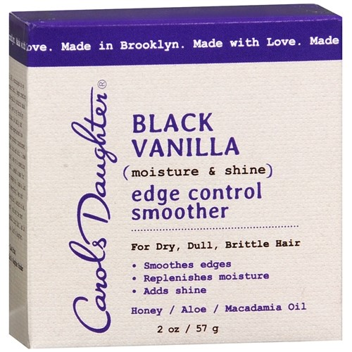 Carol's Daughter Black Vanilla Edge Control For Dry, Dull or Brittle Hair, Clear Edge Smoother, 2 oz