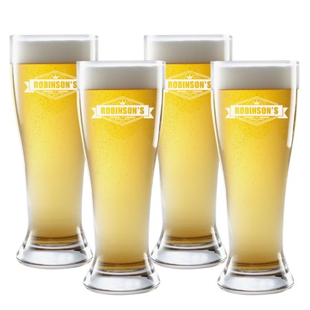 - Personalized Crown Brew Pilsner Glass