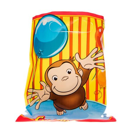 (3 Pack) Curious George Goodie Bags, 8ct - Curious George Birthday Favors