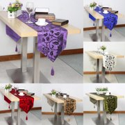 Vintage Floral Table Runner Smooth Table Cloth Cover Wedding Banquet Party Home Decor US