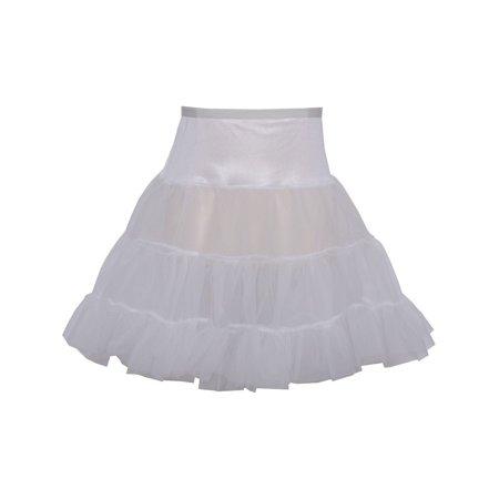 Angels Garment Girls White Ruffled Stretchy Waistband Short Petticoat](Girls Petticoat)