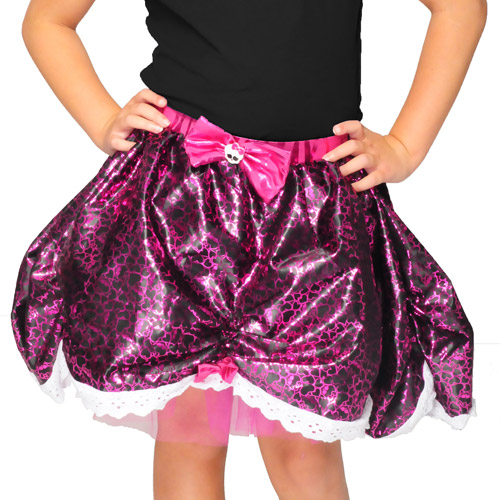 Monster High Pink and Black Petticoat Child Girl Halloween Costume