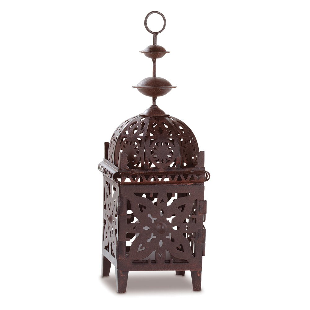 Moroccan Lantern Candle, Metal Outdoor Lanterns For Candles With Hanging Loop
