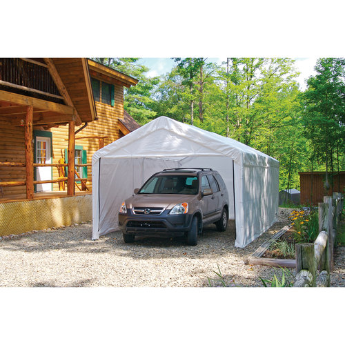 "Max AP 10' x 20' White Canopy Enclosure Kit Fits 1-3 8"" Frame by Shelterlogic"