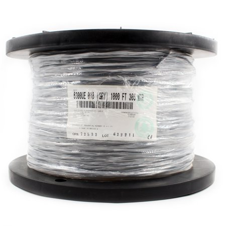 Belden 6300UE-008 Plenum CMP Control Cable, 18/2, 18AWG, 2 Conductor, 1000-Feet