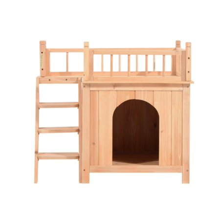 Pawhut 2-Story Indoor/Outdoor Wood Cat House Shelter - Walmart.com