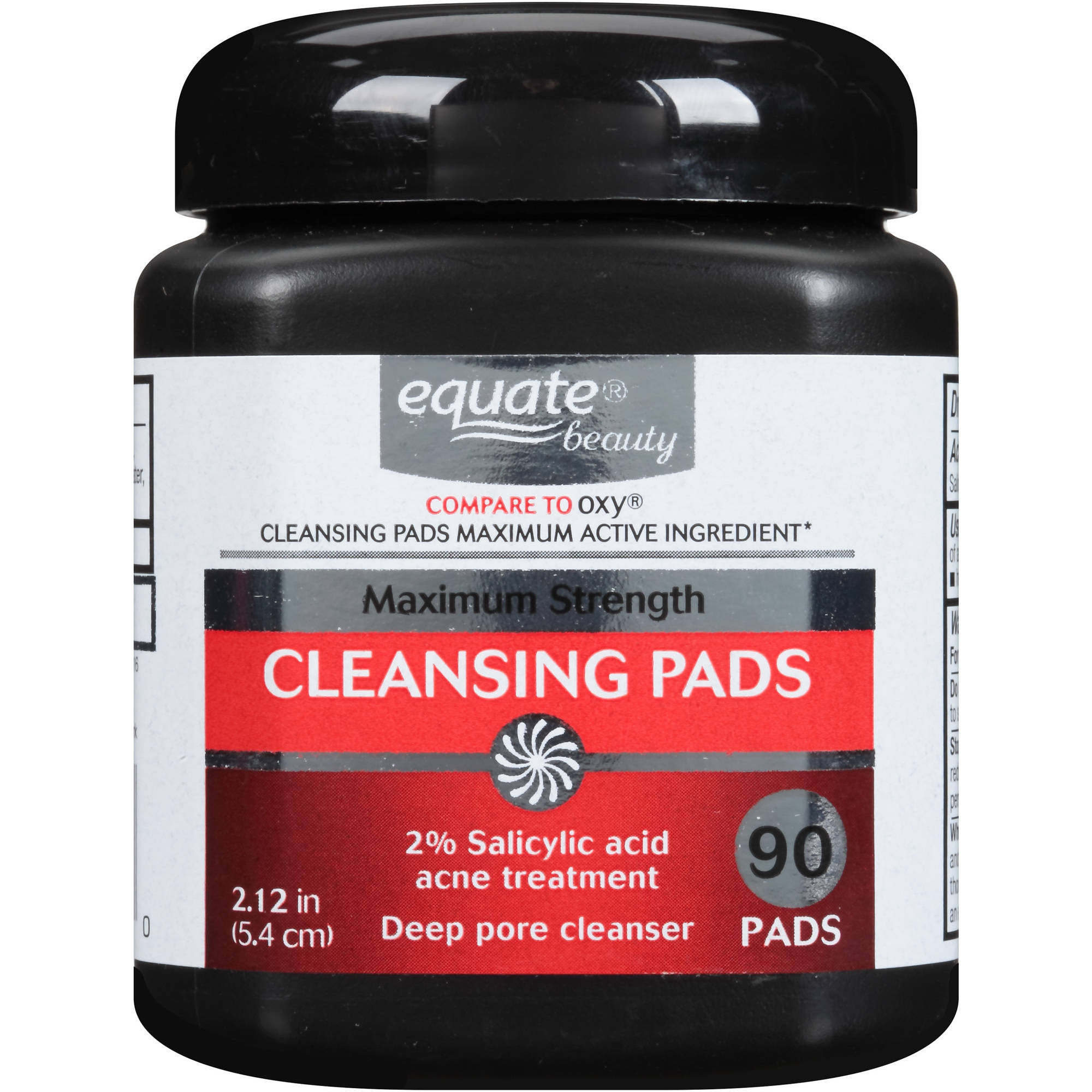 Equate Beauty Maximum Strength Cleansing Pads, 90 count