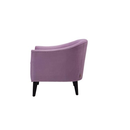 Lia Mid-Century Barrel Accent Chair Lavender - image 2 de 10