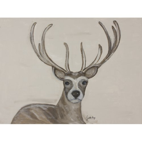 Judith Raye Paintings LLC Woodland Buck by Judith Raye Painting Print on Canvas