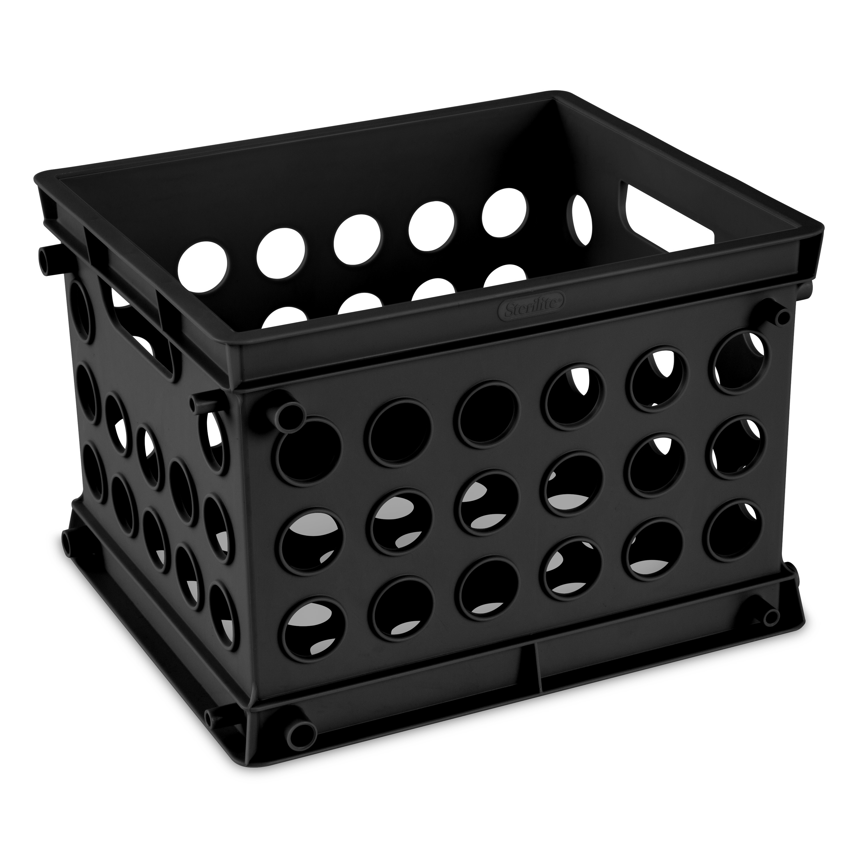 Black Sterilite Plastic Storage Crate