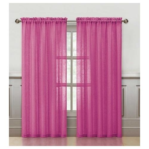 VCNY Sparkle 84-Inch Rod Pocket Curtain Panel Hot Pink
