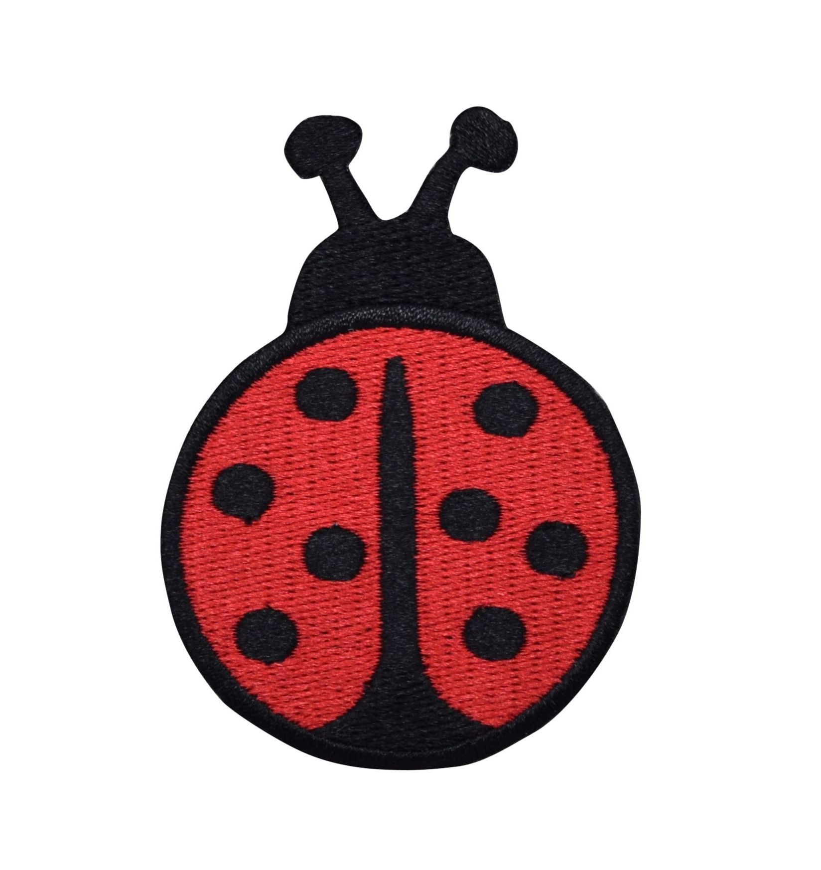 Large Red/Black Ladybug - Iron on Applique/Embroidered Patch
