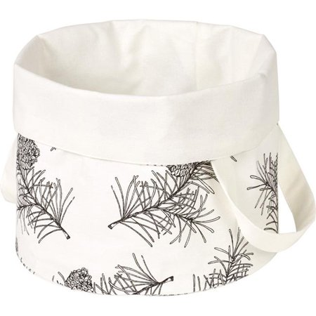 Pine Branches Bread Basket, White & Black - image 1 de 1
