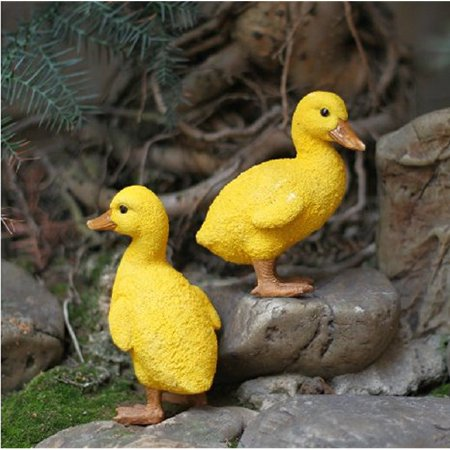 Pair Statue (Resin Duck figures Garden decoration,Outdoor statue,Yard decoration (a pair))