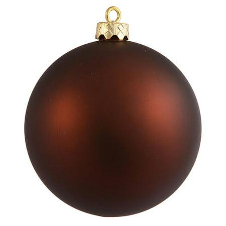 Matte Copper Brown UV Resistant Commercial Shatterproof Christmas Ball Ornament 4
