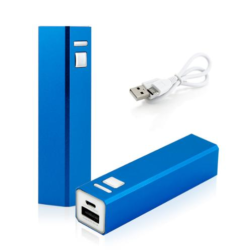 2600mAh Portable Mobile USB Power Bank External Battery Charger for Cell Phone backup - Blue
