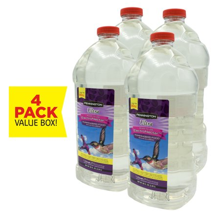 Pennington Ready to Use Electro Nectar Clear Hummingbird Food, 80 Oz, 4 Pack