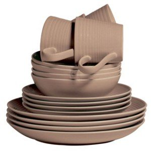 MAZE TAUPE - 16-PIECE SET DINNERWARE