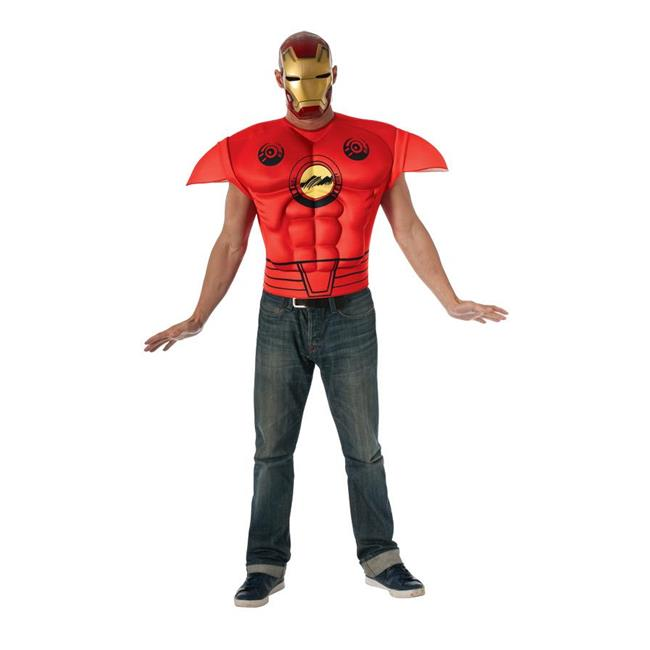Morris Costumes RU820017 Iron Man Muscle Chest Adult