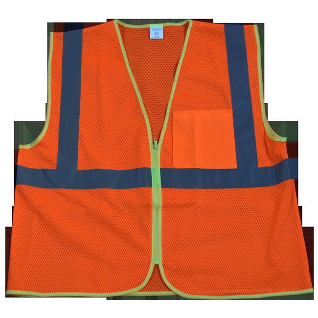 OVM2-CB0-S-M Safety Vest Ansi Class 2 Contrast Binding Orange Mesh, Small & Medium