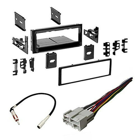 gmc 1995 - 2002 full size truck 1500/2500/3500 car stereo radio cd player receiver install mounting kit radio antenna