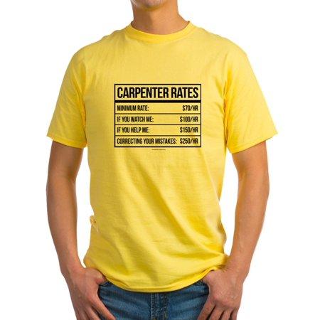 1bfe4fbc CafePress - CafePress - Funny Carpenter Rates T-Shirt - Light T-Shirt - CP  - Walmart.com