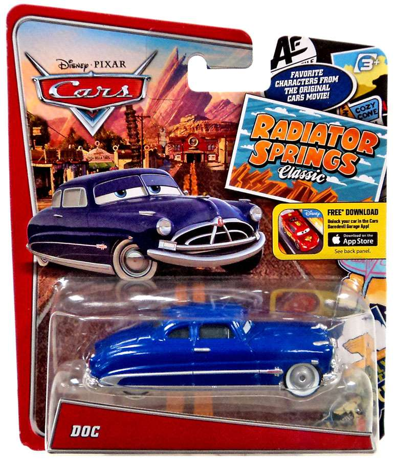 2010 Disney Cars Christmas Package Decked Out Doc Hudson Exclusive Diecast Car