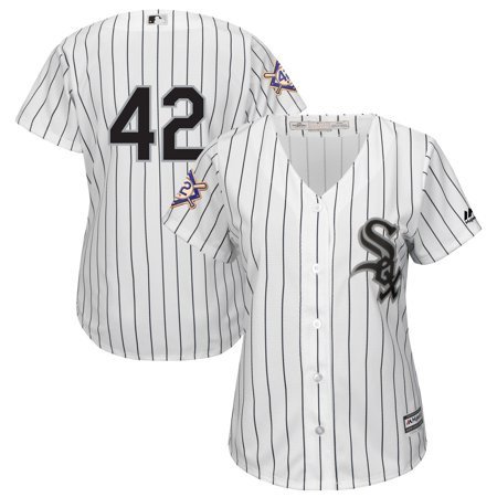 Chicago White Sox Majestic Women's 2019 Jackie Robinson Day Official Cool Base Jersey - White](Jackie Moon Jersey)
