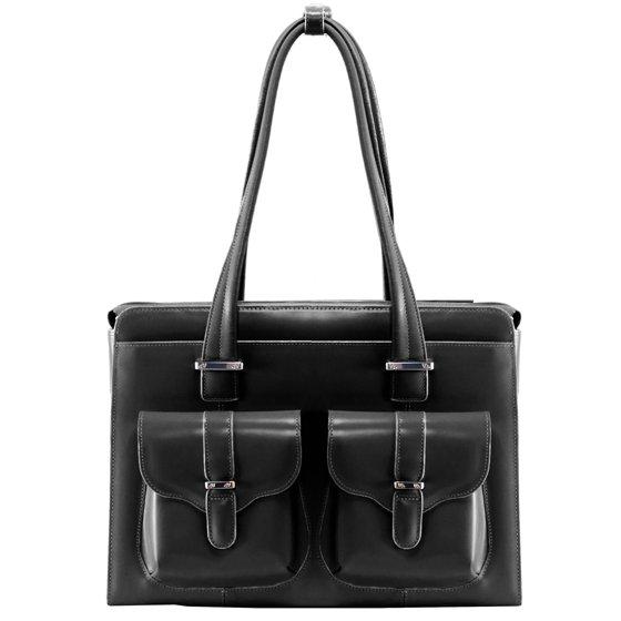 b9dead37a469 McKlein ALEXIS, Ladies' Laptop Briefcase, Top Grain Cowhide Leather, Pink  (96549)