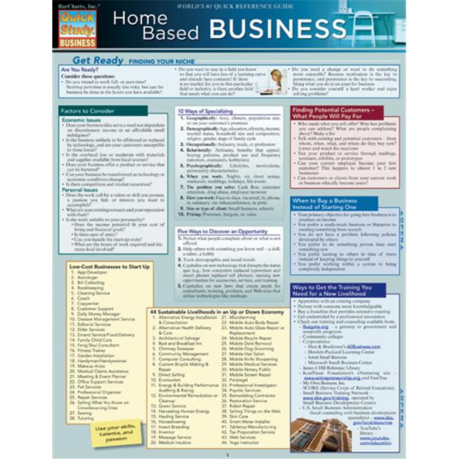 BarCharts 9781423215035 Home Based Business Quickstudy Easel