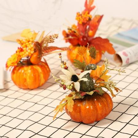 Artificial Pumpkin Maple Leaf Home Decoration Halloween Thanksgiving Autumn Ornament Props ()