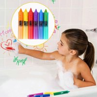 Outtop 6PC Baby Toddler Kids Washable Bath Crayons Bathtime Play Child Educational Toys