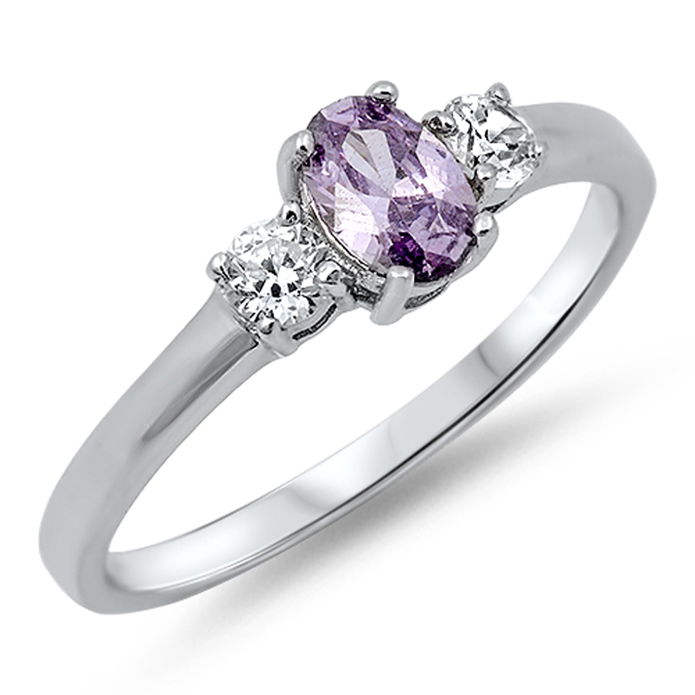 Women's Simulated Amethyst Unique Elegant Ring ( Sizes 4 5 6 7 8 9 10 11 12 ) New .925 Sterling Silver Band Rings by Sac... by