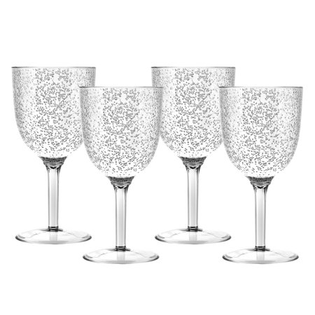 Zak Designs Spritz Wine Glasses 11 oz. Black